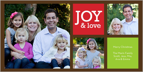 Shutterfly Picture Joy Christmas 4x8 photo card